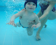 Image11: Baby Swimming in action